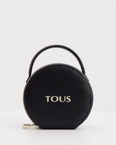 Черная кожаная косметичка Tous