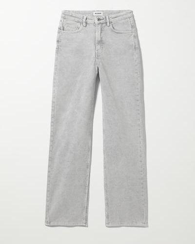 Серые прямые брюки Weekday