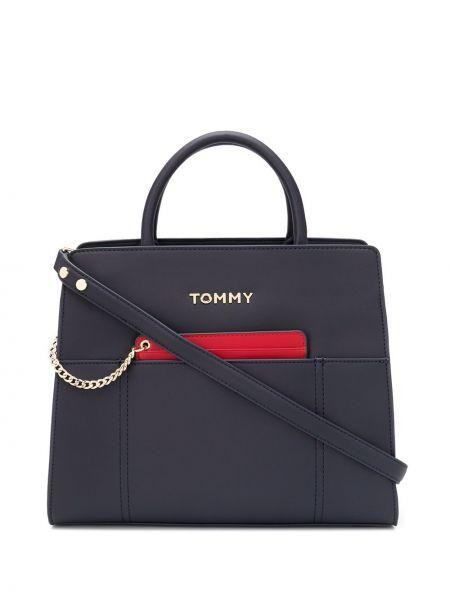 Кожаная сумка на цепочке сумка-тоут Tommy Hilfiger