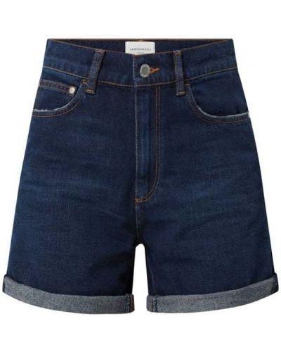 Niebieskie szorty jeansowe bawełniane Armedangels