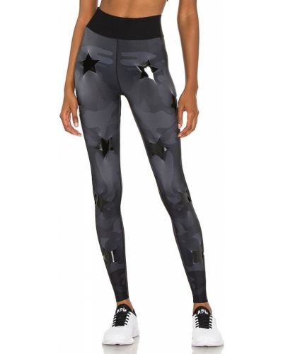 Czarne legginsy z paskiem do pracy Ultracor