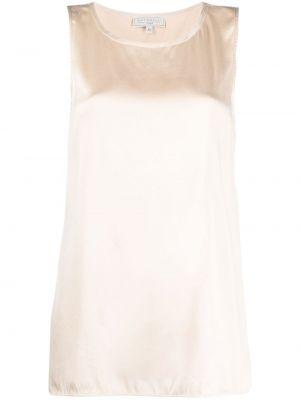 Шелковая блузка без рукавов с вырезом Antonelli