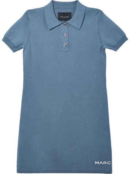 Платье рубашка - синее Marc Jacobs