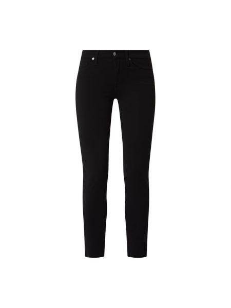 Spodnie z wiskozy - czarne 7 For All Mankind