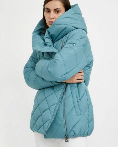 Расклешенная теплая свободная бирюзовая утепленная куртка Finn Flare