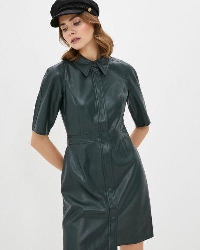 Кожаное зеленое платье Twist & Tango