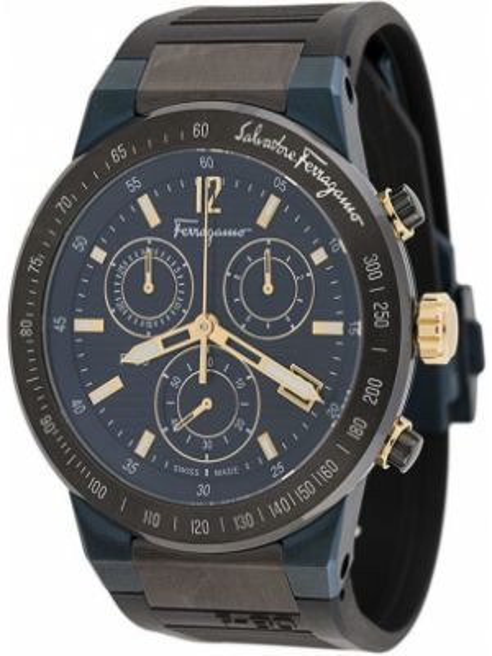 Zegarek sportowy - czarny Salvatore Ferragamo Watches
