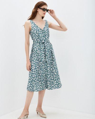 Прямое зеленое платье Zarina