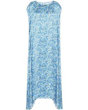 Платье макси с цветочным принтом пышное Vetements