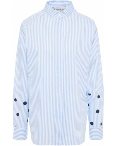 Niebieska koszula bawełniana w paski Etre Cecile