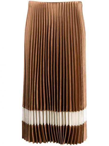 Плиссированная юбка с заниженной талией прямая Theory