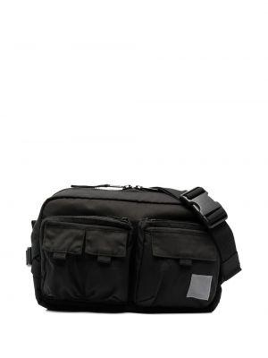 Черная поясная сумка на молнии с нашивками Carhartt Wip