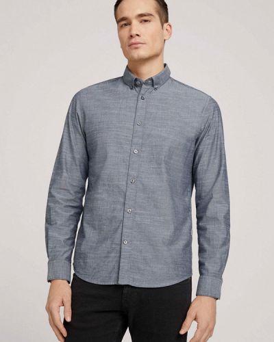 Серая рубашка с длинными рукавами Tom Tailor