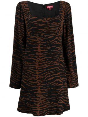 Платье макси с длинными рукавами - коричневое Staud
