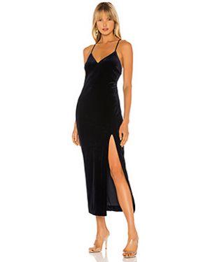 Платье миди на бретелях вельветовое Bardot
