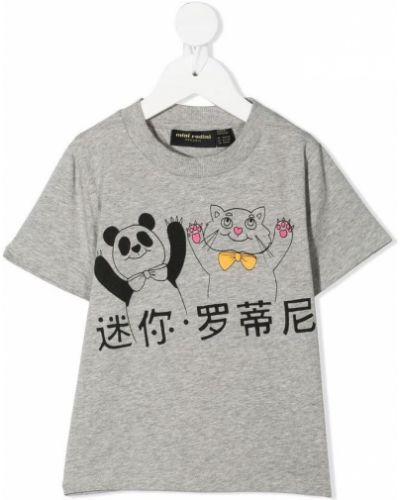 Szary t-shirt Mini Rodini