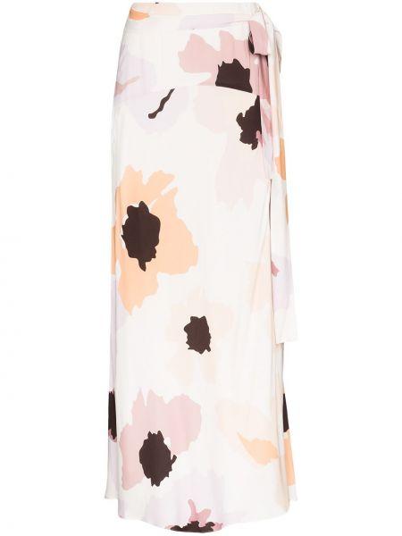 Ажурная юбка макси с запахом в рубчик Peony