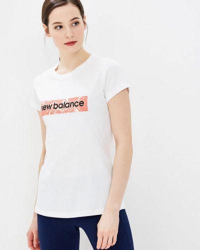 Белое поло New Balance