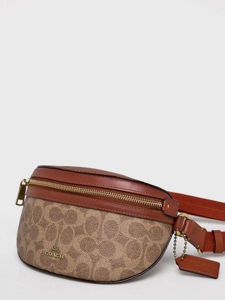 Кожаная поясная сумка Coach