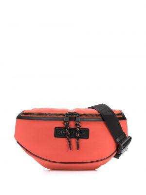 Оранжевая поясная сумка матовая Ami Paris
