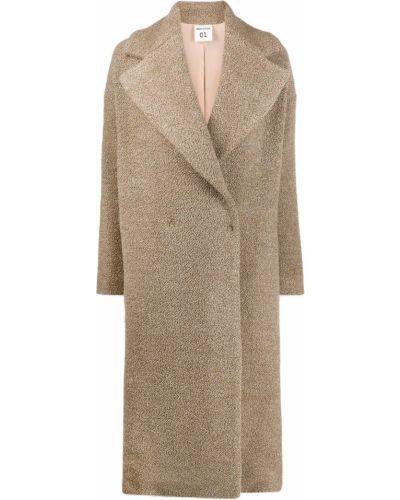 Коралловое шерстяное пальто классическое Semicouture
