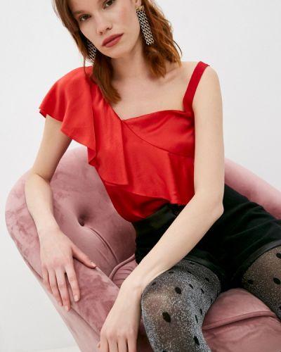 Красная блузка без рукавов Armani Exchange