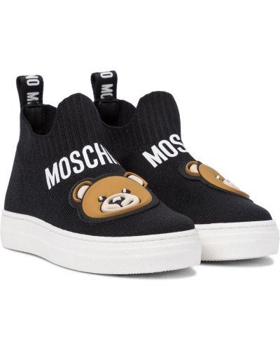 Włókienniczy czarny skarpety Moschino Kids