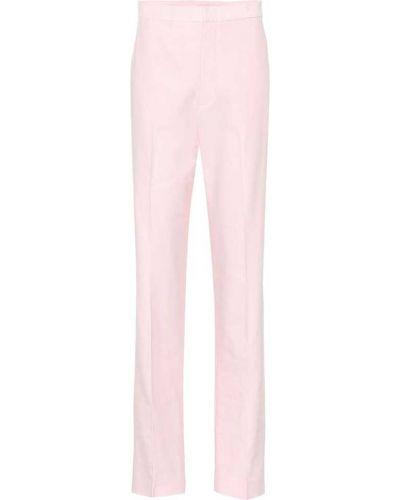 Prosto różowy bawełna bawełna spodnie Tibi