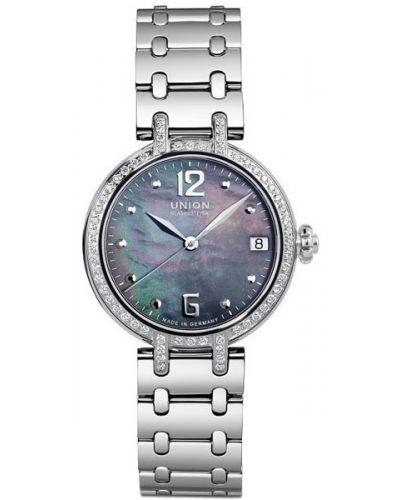 Водонепроницаемые часы с бриллиантом с камнями Union Glashütte/sa.