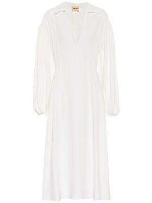 Платье миди через плечо с рукавами Khaite