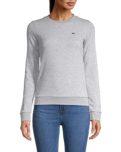 Prążkowana bluza z długimi rękawami bawełniana Lacoste