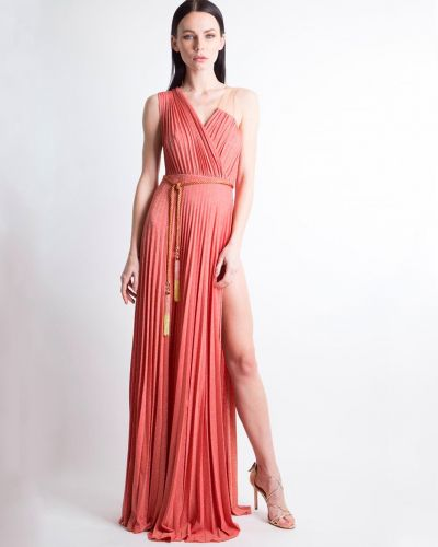 Коралловое платье Elisabetta Franchi