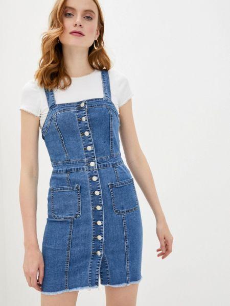Джинсовое платье - синее Haily's