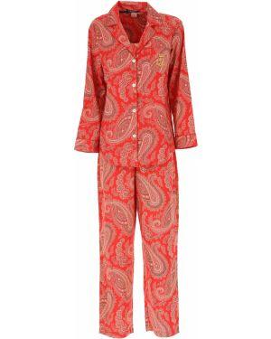 Spodni piżama z długimi rękawami długo Ralph Lauren