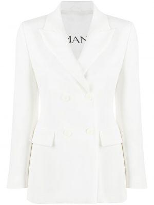 Приталенный белый пиджак двубортный Ermanno Ermanno