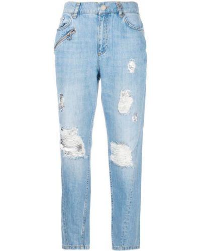 Рваные джинсы бойфренды на пуговицах с открытой спиной Versace Jeans