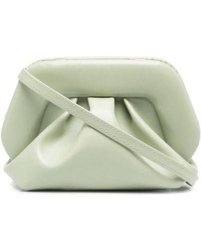 Zielona kopertówka skórzana Themoirè