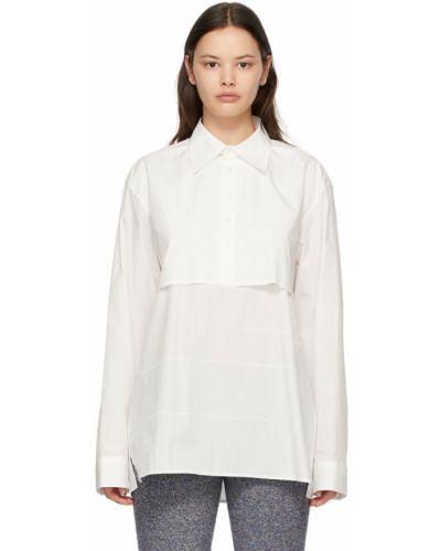 Biała koszula bawełniana z długimi rękawami Ader Error