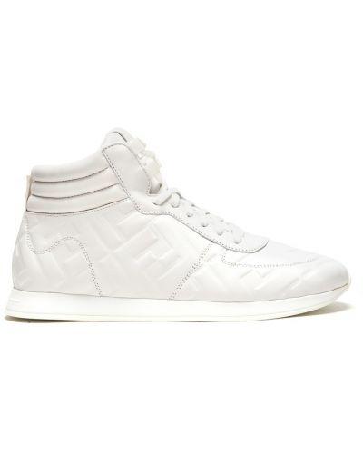 Высокие кроссовки сетчатые белый Fendi