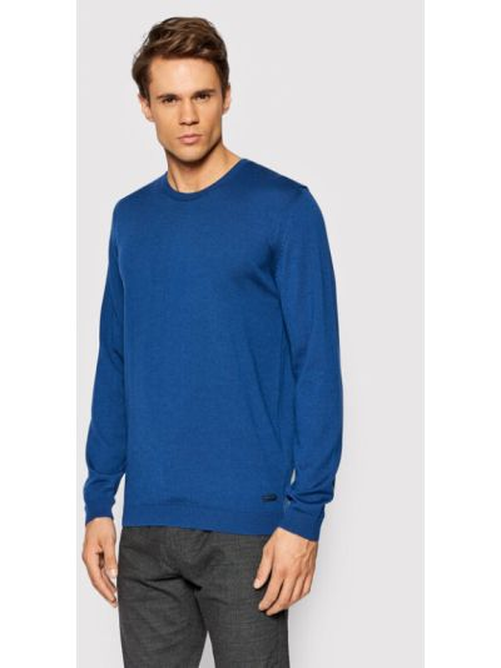 Sweter - niebieski Pierre Cardin
