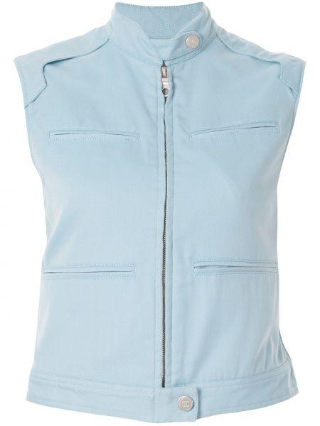 Niebieska sport kamizelka bawełniana Chanel Pre-owned