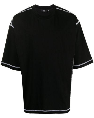 Czarny t-shirt bawełniany krótki rękaw Five Cm