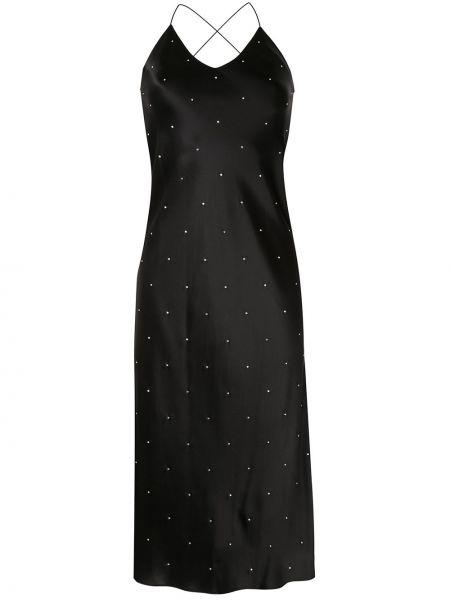 Шелковое платье на бретелях Michelle Mason