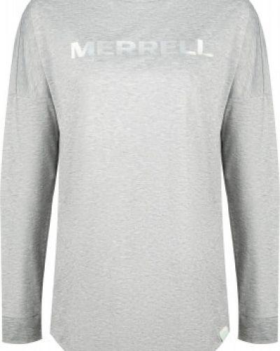 Приталенная серая спортивная футболка сетчатая Merrell