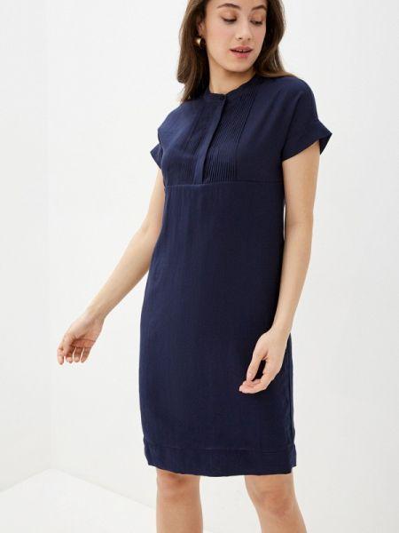 Платье прямое синее Savage