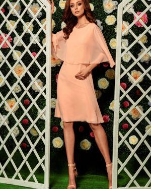 Różowa sukienka na wesele na komunię z szyfonu Lemoniade