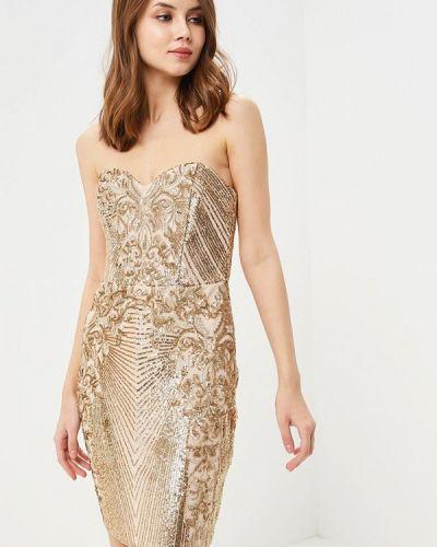 Платье золотого цвета Goddiva