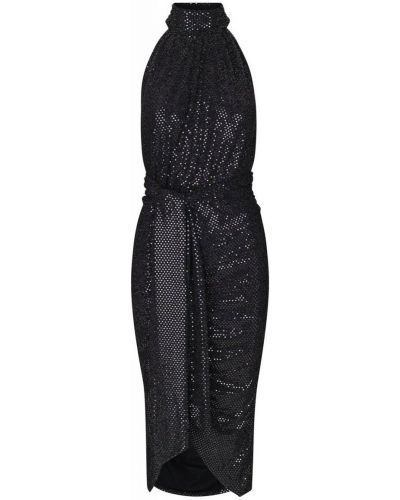 Czarna sukienka wieczorowa na lato Ravn
