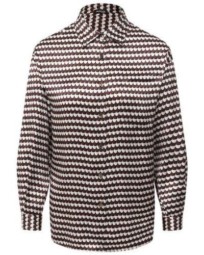 Шелковая рубашка - коричневая Kiton