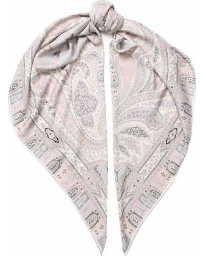 Платок из шелка с узором пейсли Michele Binda